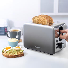 Progress® EK4332PMETOMBRE Ombre Mist 2-Slice Toaster | 930W |  6 Levels Of Browning Control | Indicator Lights & Wide Slots For Bagels, Crumpets & More | Grey Thumbnail 2