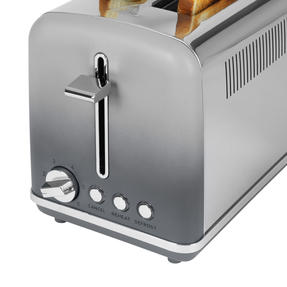 Salter® EK4324MATOMBRE Gradient Ombre 2-Slice Toaster | 870W |  6 Levels Of Browning Control | Indicator Lights & Wide Slots For Bagels, Crumpets & More | Grey/Stainless Steel Thumbnail 3