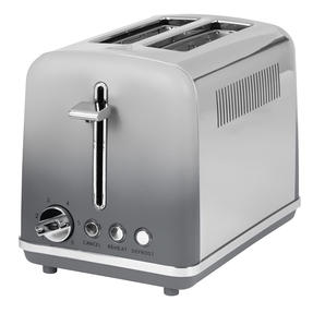 Salter® EK4324MATOMBRE Gradient Ombre 2-Slice Toaster | 870W |  6 Levels Of Browning Control | Indicator Lights & Wide Slots For Bagels, Crumpets & More | Grey/Stainless Steel Thumbnail 6