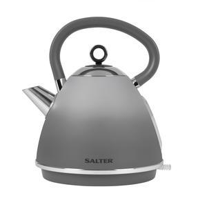 Salter® EK4323MATOMBRE Gradient Ombre Pyramid Kettle | 1.7 L | 3000 W | Rapid Boil | 360° Swivel Base | Boil-Dry Sensor | Grey/Stainless Steel