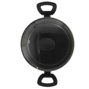 Russell Hobbs® RH01712EU Pearlised Forged Aluminium Stock Pot With Tempered Glass Lid   20cm   Whitford Non-Stick Coating   Suitable for All Hob Types Including Induction   Matte Grey Thumbnail 3
