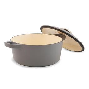 Thomas P505369 Round Casserole Dish with Lid, 20 cm, 2.4 Litre Capacity, Cast Iron Thumbnail 3