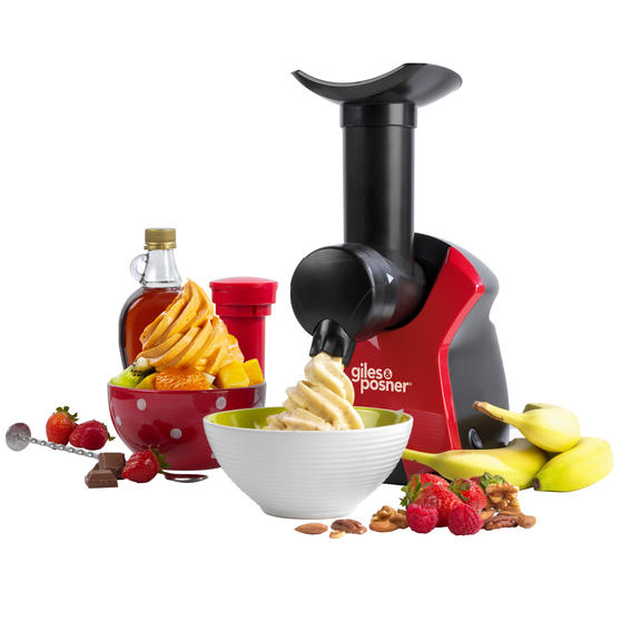 Giles & Posner® EK4002V2 Frozen Dessert Maker   250 W   Quick and Easy to Use   Removable Plate  Create Delicious and Healthy Desserts