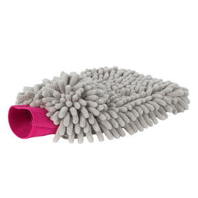 Kleeneze® KL082336EU7 Double Sided Premium Car Mitt | Perfect for Interior and Exterior | Grey and Pink Thumbnail 1