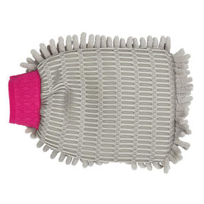 Kleeneze® KL082336EU7 Double Sided Premium Car Mitt | Perfect for Interior and Exterior | Grey and Pink Thumbnail 4