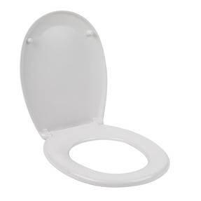 Beldray® LA030252UFEU7 Antibac Duroplastic Soft Close Toilet Seat, Treated with Antibacterial Protection, White