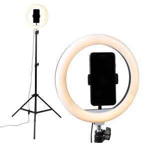 Intempo® EE5976KBLKSTKEU7V2 Standing Selfie Light With Phone Holder, 3 Light Modes, 26 cm Light Ring Thumbnail 2