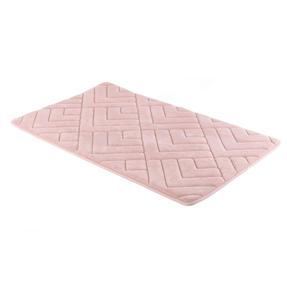 Beldray® LA084699PNKUFEU7 Antibac Embroidered Memory Foam Bath Mat, Pink Thumbnail 1
