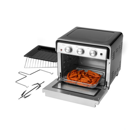 Salter® EK3999 22 Litre Air Fryer Oven    Variable Temperature Control  1600W Oven/1700W Fryer  Cook Healthy Meals From Fresh & Frozen  Enamel Drip Tray, Grill Rack, Rotisserie & Fork Tong