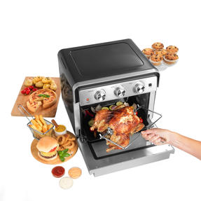 Salter® EK3999 22 Litre Air Fryer Oven    Variable Temperature Control  1600W Oven/1700W Fryer  Cook Healthy Meals From Fresh & Frozen  Enamel Drip Tray, Grill Rack, Rotisserie & Fork Tong Thumbnail 2
