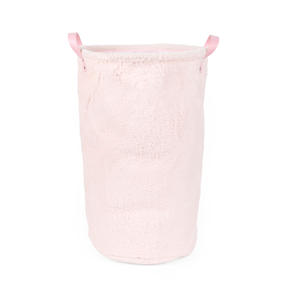 Beldray® LA073235PNKEGFOB Faux Fur Hamper, Ideal for Towels, Clothes or Toys, Pink Thumbnail 1