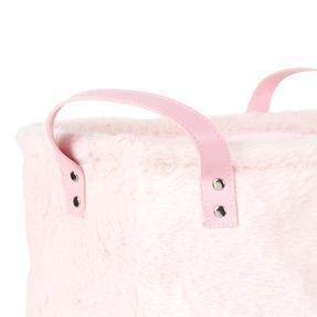 Beldray® LA073235PNKEGFOB Faux Fur Hamper, Ideal for Towels, Clothes or Toys, Pink Thumbnail 2