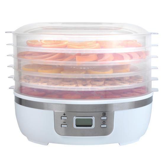 Progress® Digital Food Dehydrator | 350 W | 7.5 L | Perfect for Healthy Dried Snacks | Digital LCD Display | 48 Hour Adjustable Timer