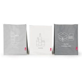 Kleeneze KL068132EU7 Set of 3 Recycling Bags for Cardboard/Paper, Metal/Plastic and Glass Thumbnail 1