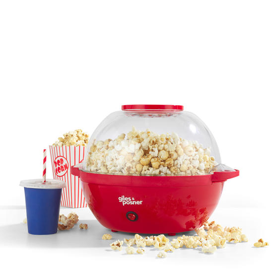 Giles and Posner® Stir Popcorn Maker with Serving Bowl,  5.5 Litre Capacity, 850 W