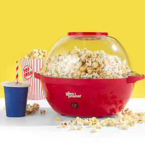 Giles and Posner® Stir Popcorn Maker with Serving Bowl,  5.5 Litre Capacity, 850 W Thumbnail 2