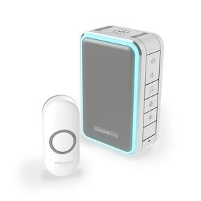 Honeywell DC315NG Wireless Doorbell with Halo Light, Sleep Timer and Mute Function, Grey Thumbnail 1