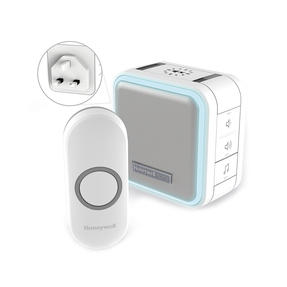 Honeywell DC515NBS Wireless Compact Plug-In Doorbell with Halo Light, Sleep Timer and Mute Function, White Thumbnail 1