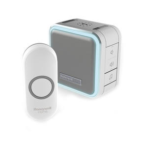 Honeywell DC515NG Wireless Compact Doorbell with Halo Light, Sleep Timer and Mute Function, Grey Thumbnail 1