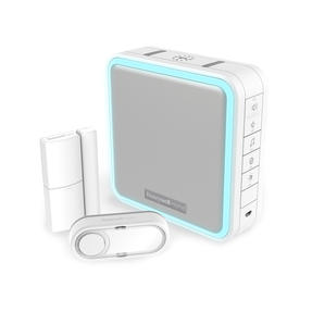 Honeywell DC915SDE Door Entry Kit with LED and Halo Light, Sleep Timer and Mute Function, White Thumbnail 1