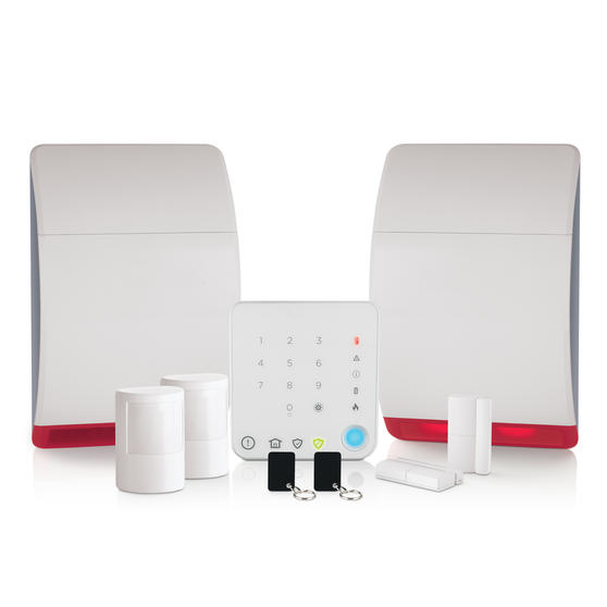 Honeywell HS342N Wireless Home & Garden Alarm with Intelligent Control, Easy to Use, Includes Additional Dummy Siren, Keypad and Contactless Tags