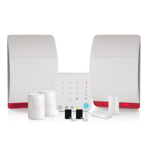 Honeywell HS342N Wireless Home & Garden Alarm with Intelligent Control, Easy to Use, Includes Additional Dummy Siren, Keypad and Contactless Tags Thumbnail 1