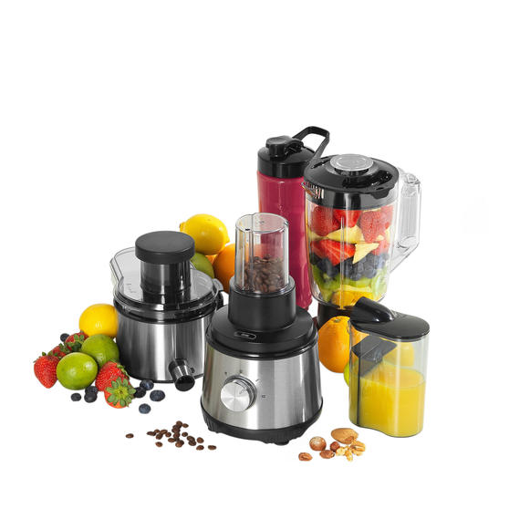 Salter EK4294 4 in 1 Juice and Blender, 400 W, 2 Speed Settings, Ideal for Tasty Smoothies, Juices, Fresh Coffee and Spice Blends