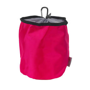 Kleeneze KL081834EU7 Drawstring Peg Bag With Secure Carabiner Line Clip, Water Resistant, Holds Up To 150 Pegs, 17 x 19cm, Pink/Grey Thumbnail 1
