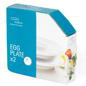 Kahla P506378 Egg Plates, Set of 2, Dishwasher and Microwave Safe, Ideal for Boiled Eggs, Snacks, Dipping Sauce