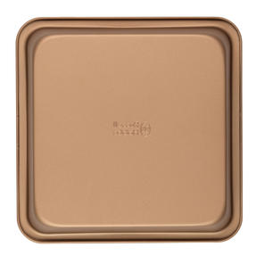 Russell Hobbs RH02148GEU7 Opulence 22 cm Carbon Steel Square Pan, Non-Stick Surface, Easy Clean, Stylish Design, Gold