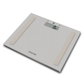 Salter Compact Glass Analyser Bathroom Scales - Grey