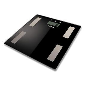 Salter Black Glass Analyser Bathroom Scale