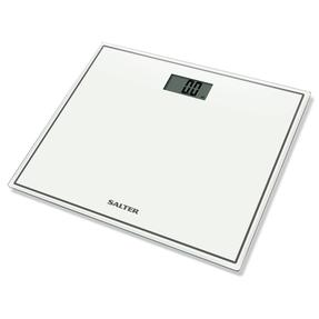 Salter Compact Glass Electronic Bathroom Scale - White