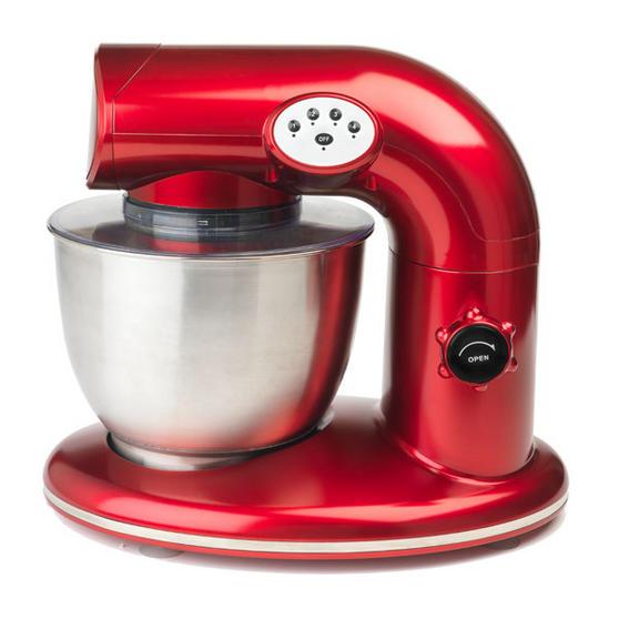 Tiny Kitchen Brands Llc: Salter 1000W Stand Mixer - Metallic Red
