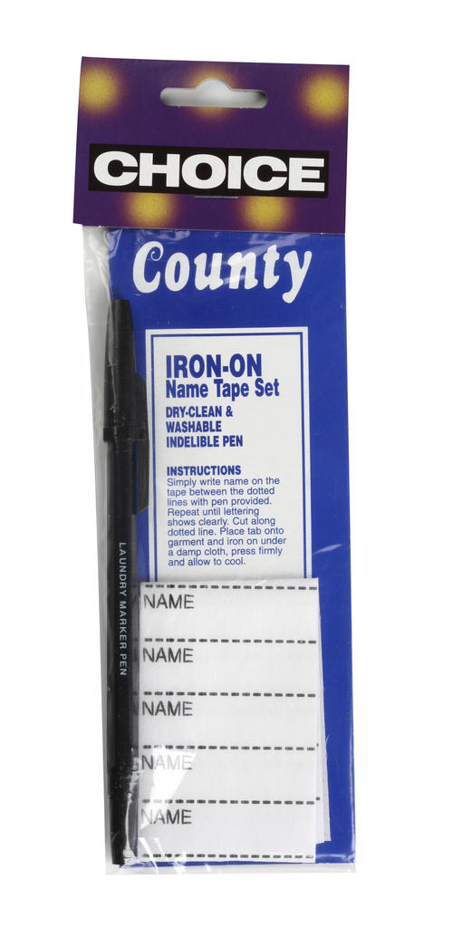 Iron on Name and Tape Set