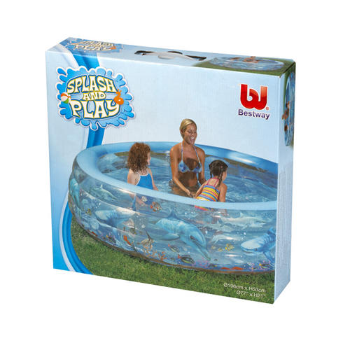 Bestway deluxe crystal pool 51071 garden accessories for Garden pool accessories