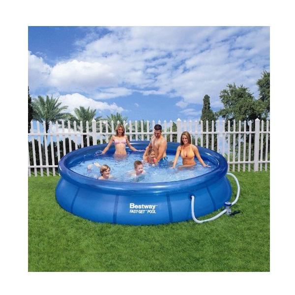 Bestway 8 39 fast set pool garden accessories no1brands4you for Fast set gartenpool
