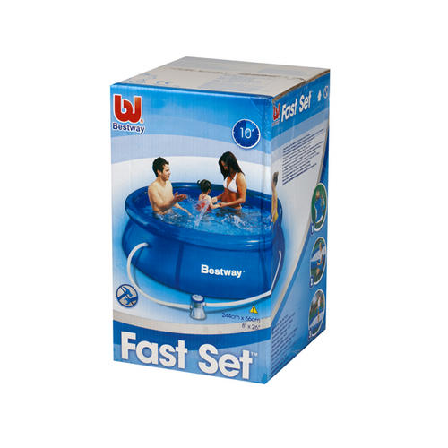 Bestway 8 39 fast set pool garden accessories no1brands4you for Obi fast set pool