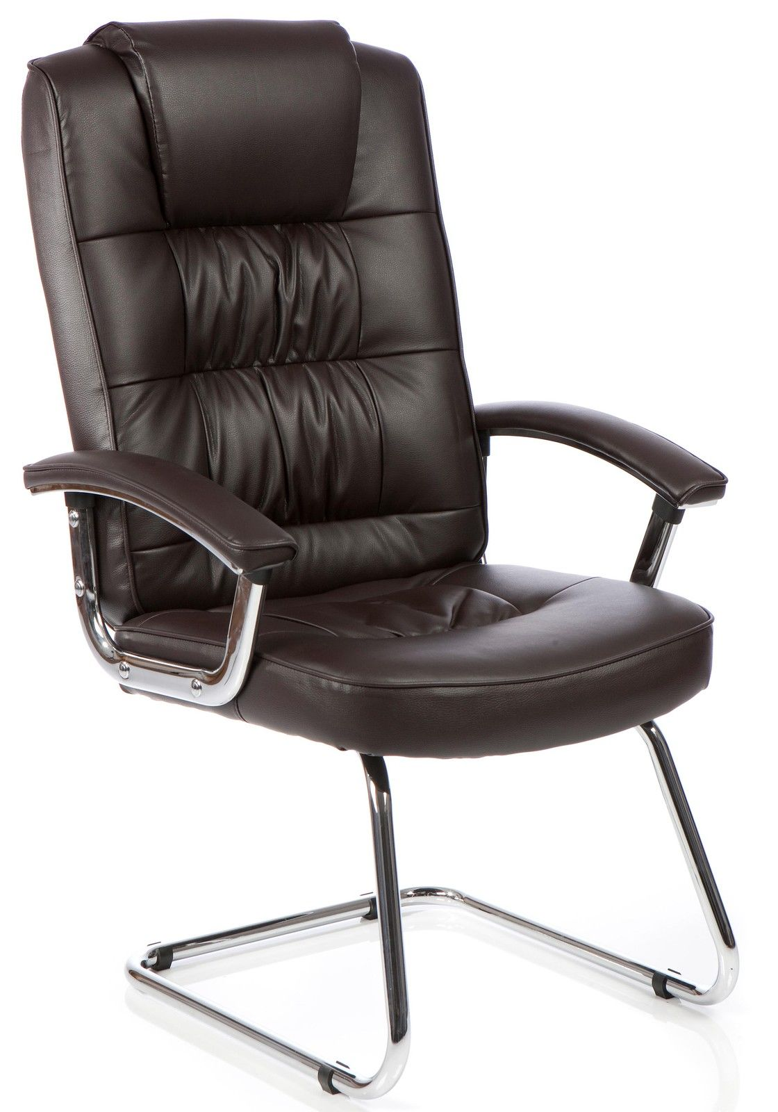 moore deluxe leather chrome cantilever framed visitors meeting boardroom chair ebay. Black Bedroom Furniture Sets. Home Design Ideas