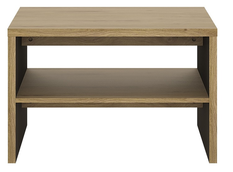 Details About Shetland Light Brown Laminated Board Home Furniture Coffee Table With Shelf