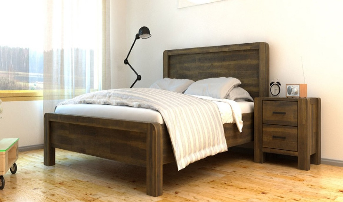 Chester Traditional Teak Acacia Wood Bed Frame 5ft King Size Bedroom ...