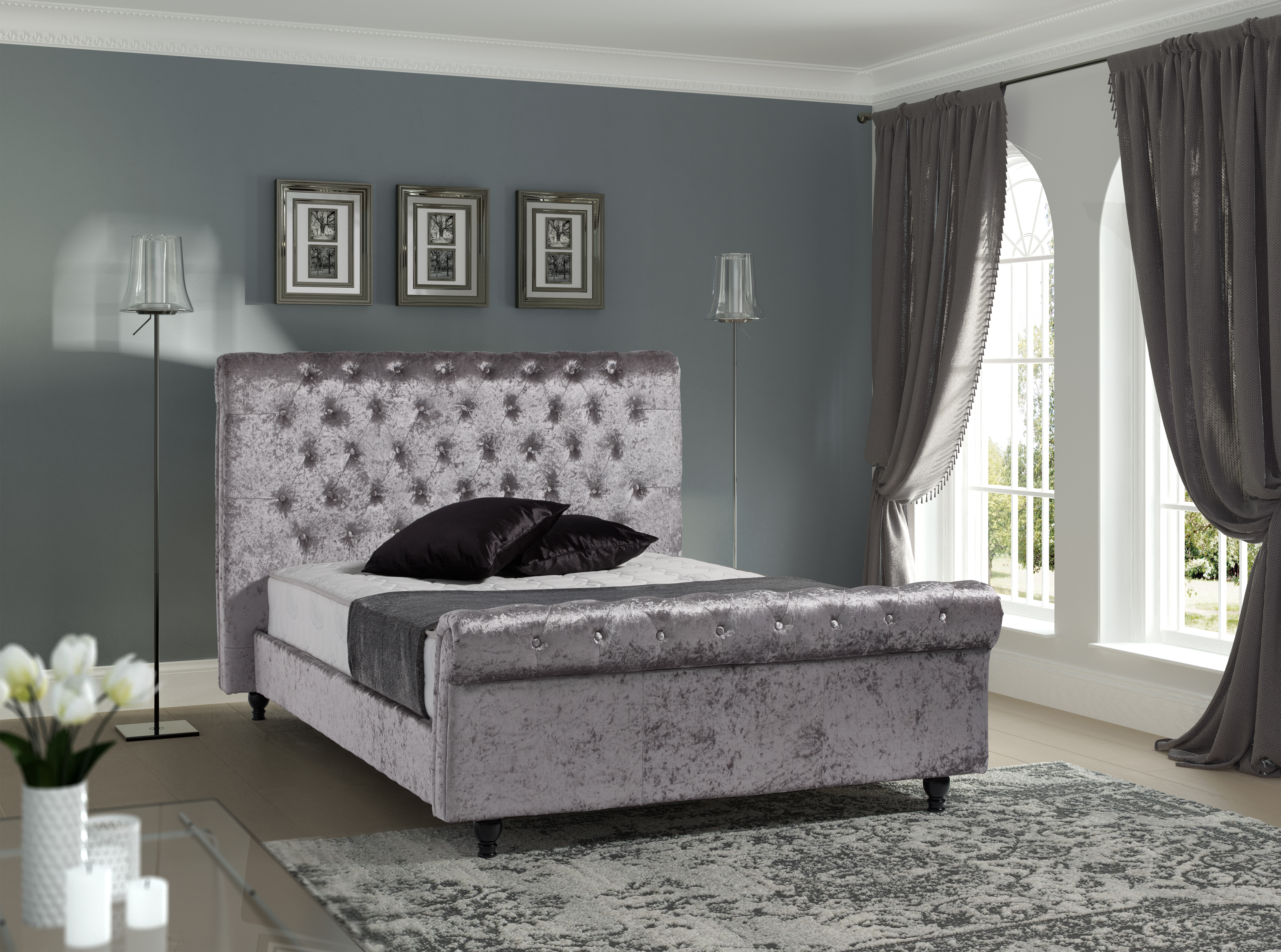 the from valentino drawer station grey birlea bed fabric