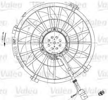 Genuine Oe Valeo Radiator Motor Fan 698542 Oe 1253 941253 F1