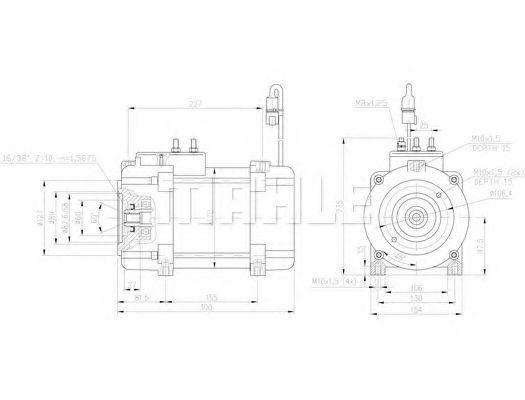 Mahle Electric Motor B1660 15v 650kw Im7005 Amt7210 15v 65kw