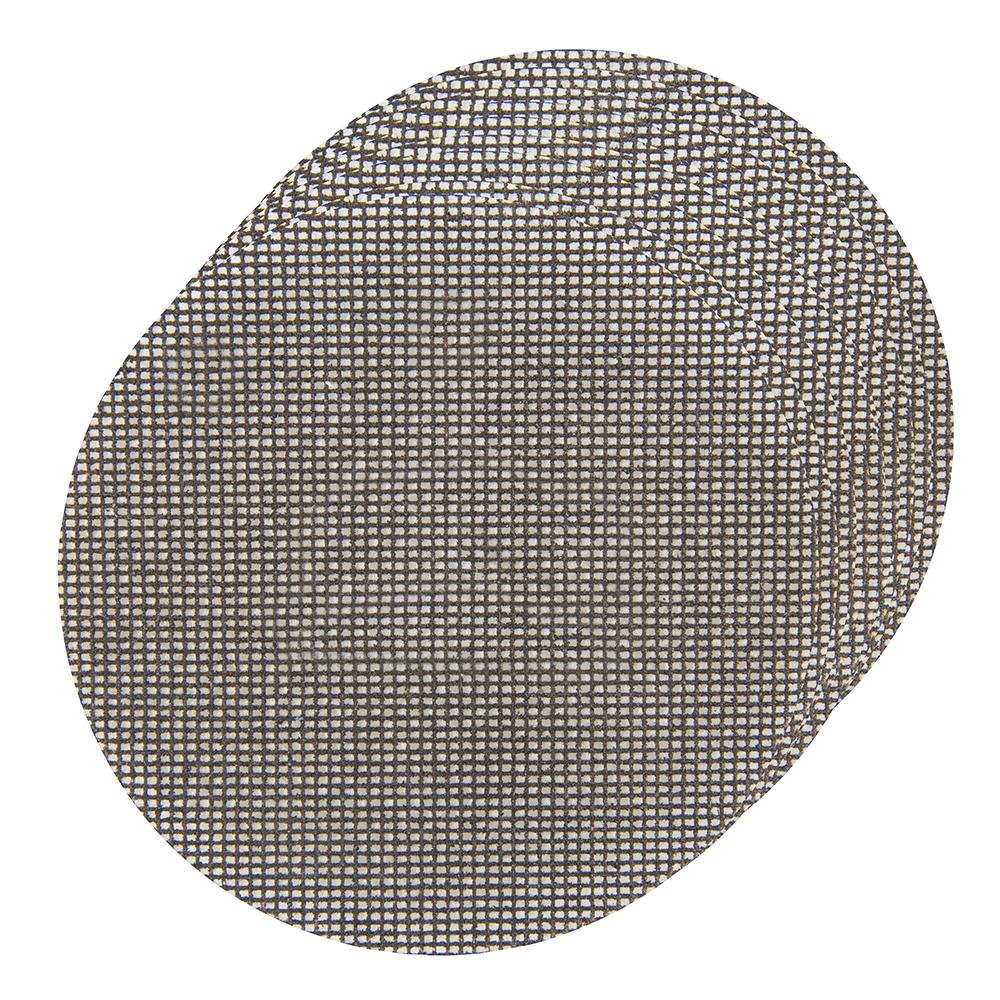 Silverline 400486 Hook /& Loop Maille Disques 150mm Paquet De 10 Grain 180