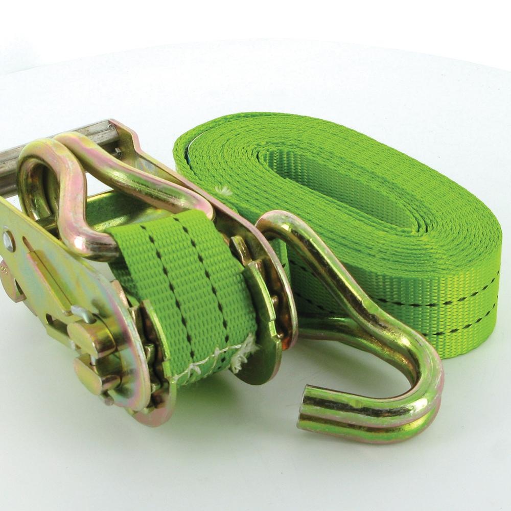 Silverline 785253 Ratchet Tie Down Strap J-crochet 6 m x 38 mm Rated 750 Kg Capacité 1