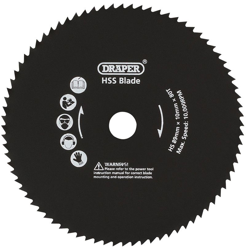 Draper 89 mm METAL Cut Blade Pour Storm Force Mini Plunge Saw
