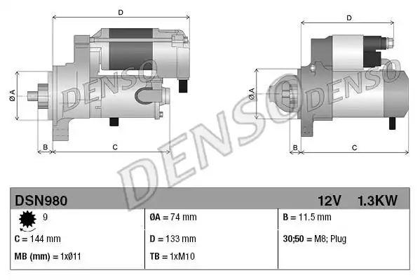 DSN980 Denso Anlasser Toyota