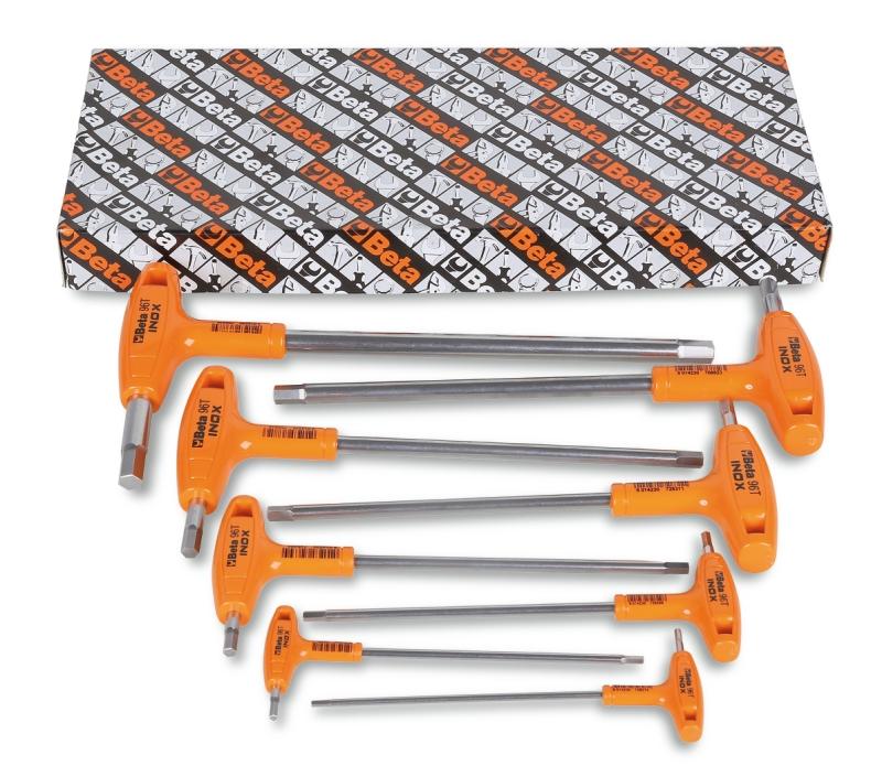 Beta Tools 96 T//AS10 10pc AF Offset Hex Key High-Torque Handle Set 000960683