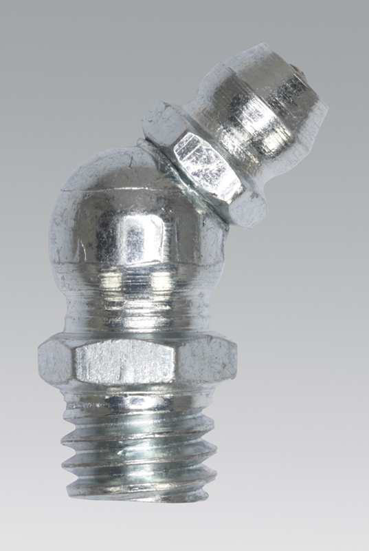 Sealey GNM12 Grease Nipple 45° 8 x 1.25mm Pack of 25